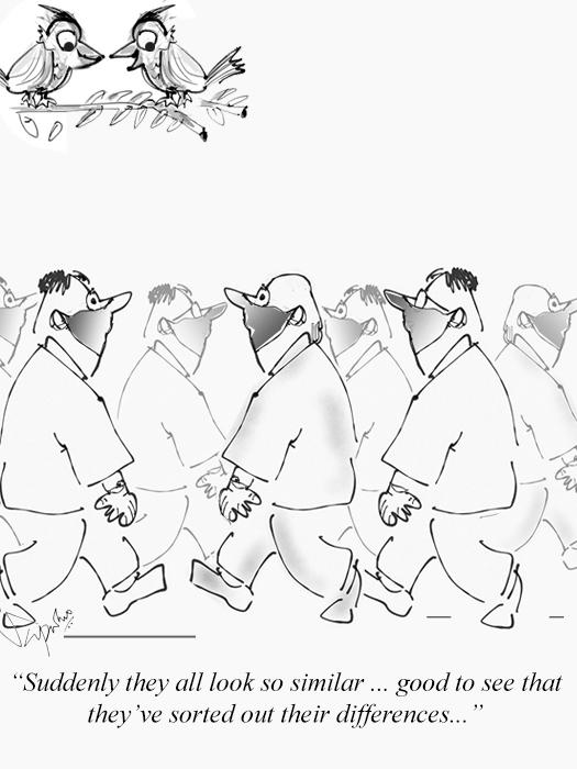 Men in Mask - COVID Cartoon