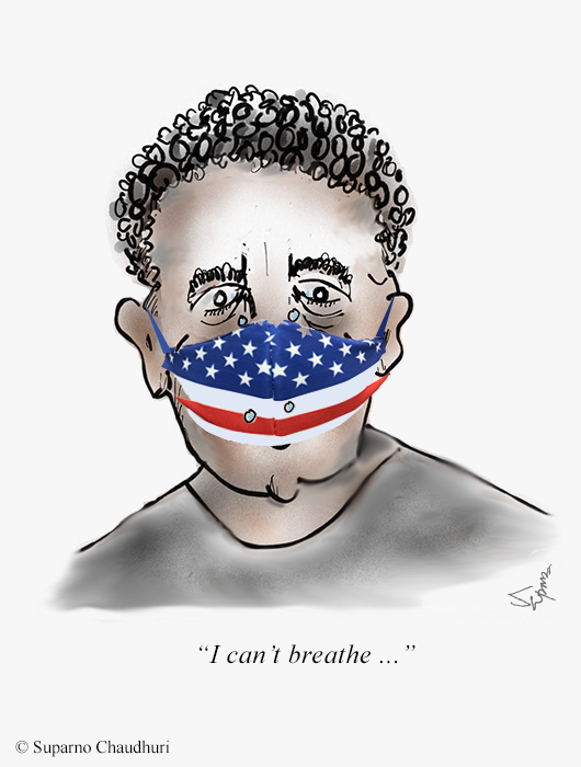 Black Lives Matter - I Cannot Breathe Cartoon