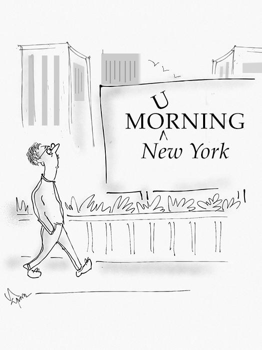 New York Mourning Cartoon
