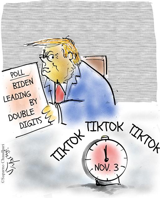 Trump TikTok Cartoon
