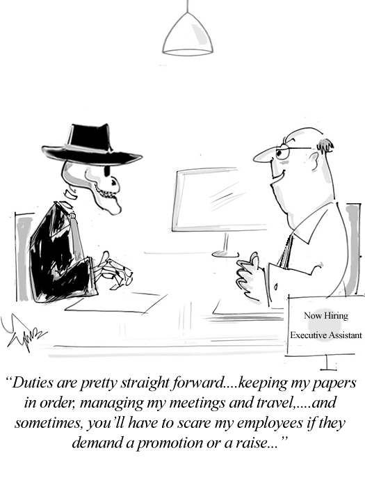 A ghost's duty cartoon