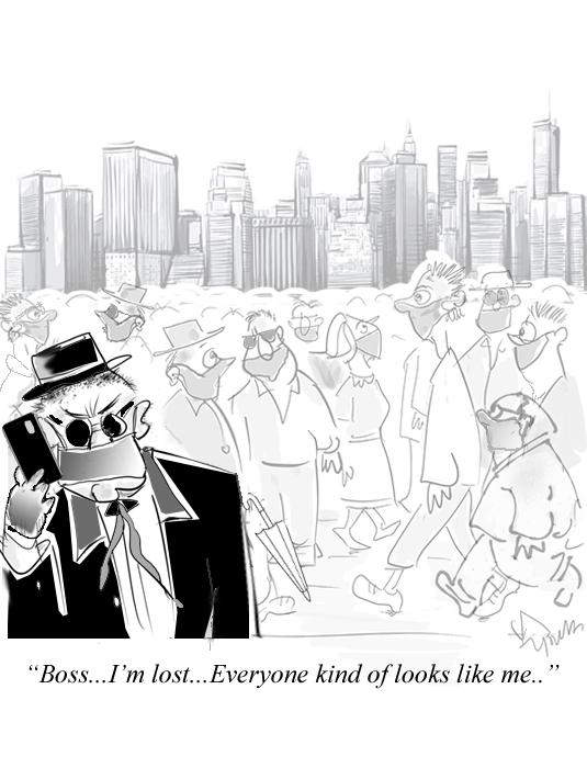Men in Mask Lost Cartoon
