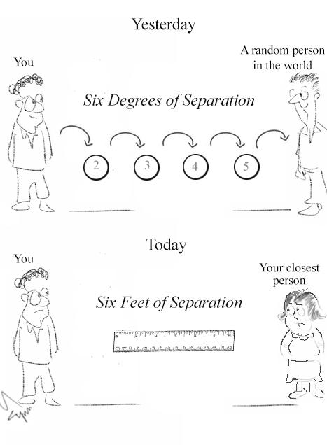 Six Degrees of Separation Cartoon
