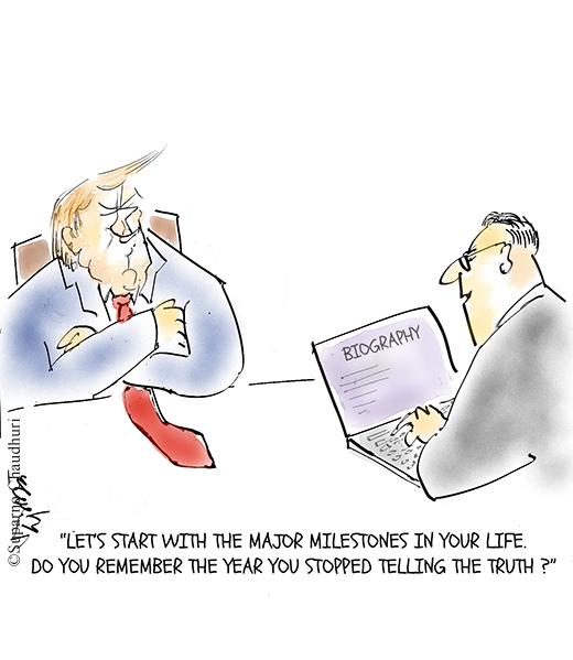 Trump Biography Cartoon by Suparno