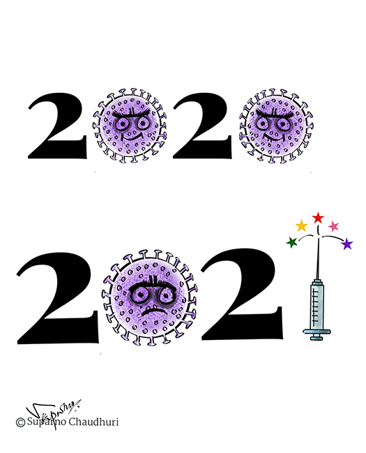 2021 New Year Cartoon